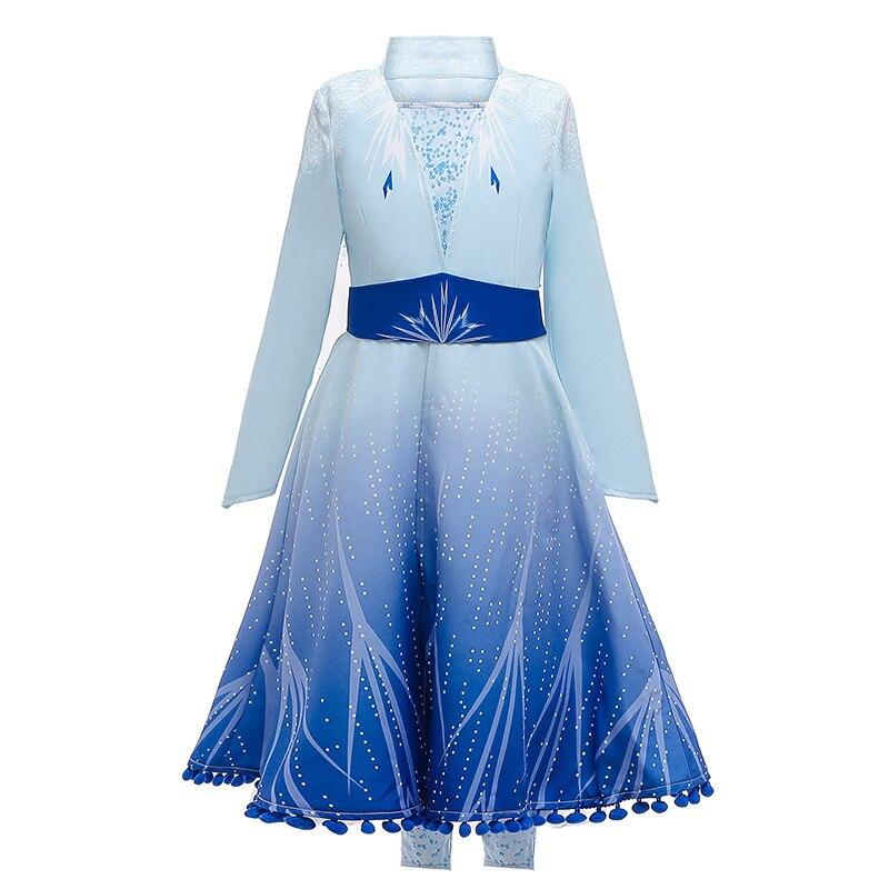Image 2 - 2020 חדש בנות אלזה שמלת סט נסיכת אנה אלזה קוספליי תלבושות מסיבת יום הולדת נסיכת שמלה לילדים Vestidosשמלותאמהות וילדים -