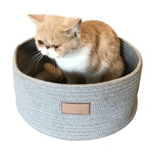 Cotton Rope Knitting Pet Kennel Cat Anti-scratch Bed Dog Sleeping Bags Mat Scratching Board House Product