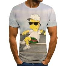 3D printing T-shirts funny and interesting street Simpson clothing 3DT shirts Harajuku Men's and women's T-shirts Junior T-shirt