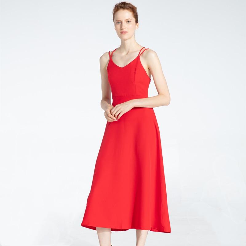 Cross Spaghetti Strap Open Back Solid Beach Ankle-Length Dress 4