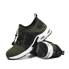 Летние мужские дышащие рабочие туфли Противоударная проколостойкая
