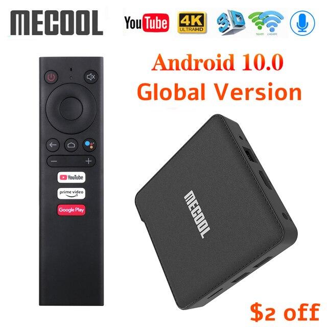 2020 mecool KM1デラックスatv google認定アンドロイド10テレビボックスamlogic S905X3 androidtvプライムビデオ4 18kデュアル無線lan 2T2Rセットトップボックス