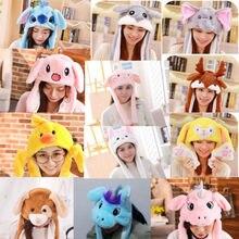 11 стиль для женщин дети миленький плюшевый кролик пинчинг Банни уха шляпа может двигаться подушка безопасности кепки игрушка подарок