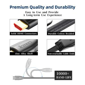 Image 3 - HDMI Cable  HDMI 2.0a 2.0b, AMPCOM Engineering Series 4K HDMI to HDMI 2.0 Cable Support 3D Ethernet HDR 4:4:4 for HDTV  PS4 PS3