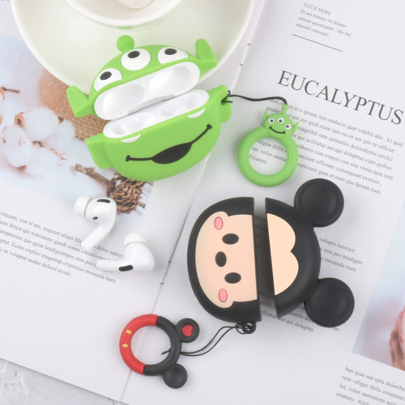 Silicone cartoon Toy story headset case for Apple AirPods pro Bluetooth headset case, charging case for AirPods pro Funda image