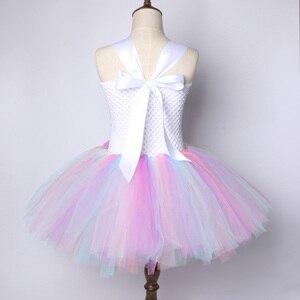 Image 3 - Kwiat dziewczyny jednorożec Tutu sukienka pastelowa tęcza księżniczka dziewczyny sukienka na przyjęcie urodzinowe dzieci dzieci Halloween jednorożec kostium 1 14Y