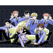 D0805 Ouran High School Host Club Anime seda póster de tela arte decoración interior pintura regalo(China)