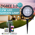 Smart ZigBee 3.0 12W RGBCCT Garden Lamp Landscape Path Light Outdoor Dimmable Work with Echo Plus SmartThings RF