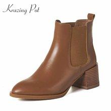 Krazing pot/Новинка зимние сапоги из натуральной кожи в стиле