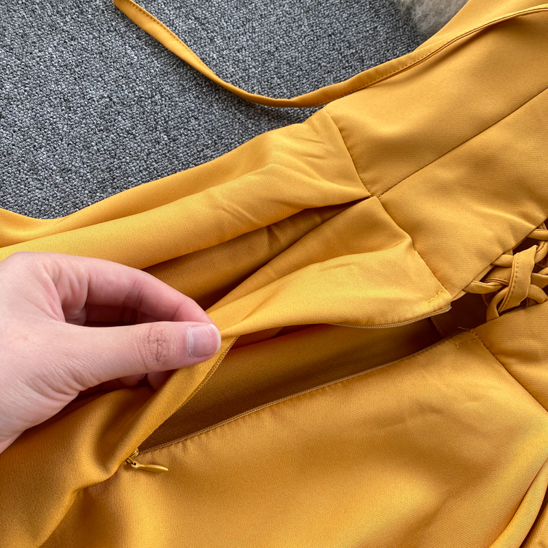 Elegant Vintage Sleeveless V-Neck Bandage Dress 18