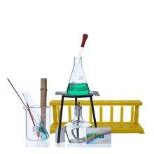New Lab Equipment Beaker + test tube + flask + alcohol lamp Turnkey Solution Heating set цена и фото