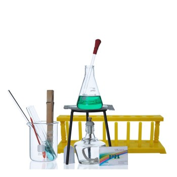 New Lab Equipment Beaker + test tube + flask + alcohol lamp Turnkey Solution Heating set