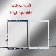 10 Stks/partij Voor Ipad 7 (2019) a2197 A2200 A2198 Digitizer Touch Screen Voor Glas Panel + Lijm + Knop Reparatie Onderdelen
