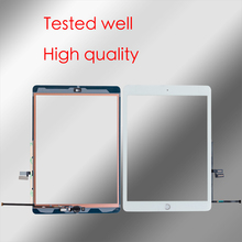 10 יח\חבילה עבור iPad 7 (2019) a2197 A2200 A2198 Digitizer מגע מסך קדמי זכוכית פנל + דבק + כפתור תיקון חלקים