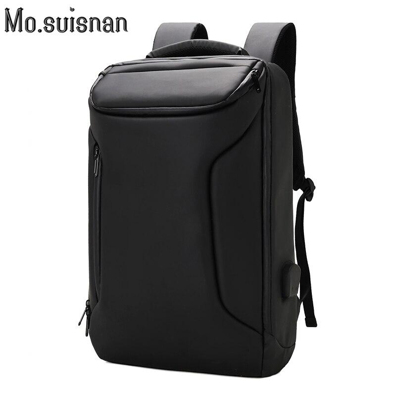 Hommes sac à dos 17 pouces sac à dos pour ordinateur portable Oxford tissu imperméable Anti-vol sac à dos USB grande entreprise loisirs voyage sac à dos noir