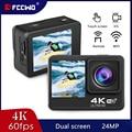 Экшн-камера FCCWO H11, 4K, 60 кадров/с, 24 МП, 2,0 дюйма, сенсорный ЖК-экран