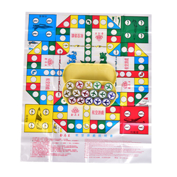 1 Set Flying Chess Playmat Entertainment Leisure Aeroplane Chess Rug Board Game Parent-child Game Travel Game Party Game