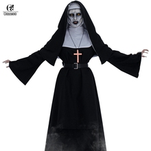 ROLECOS Women Halloween Costume The Nun Cosplay Costume Horror Films Cosplay Cross Ghost Halloween Costume The Conjuring