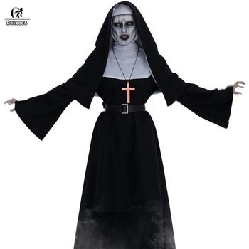 ROLECOS Women Halloween Costume The Nun Cosplay Horror Films Cross Ghost Conjuring