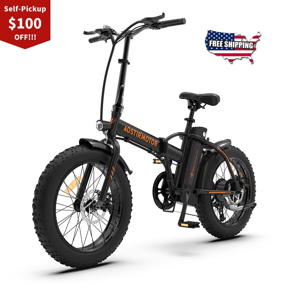 AOSTIRMOTOR-A20-bici-elettrica-500W-pieghevole-Ebike-Fat-Tire-Beach-City-uomo-donna-bici-36V-13Ah Offerte Bici Elettriche 2021: 11° Anniversario Aliexpress