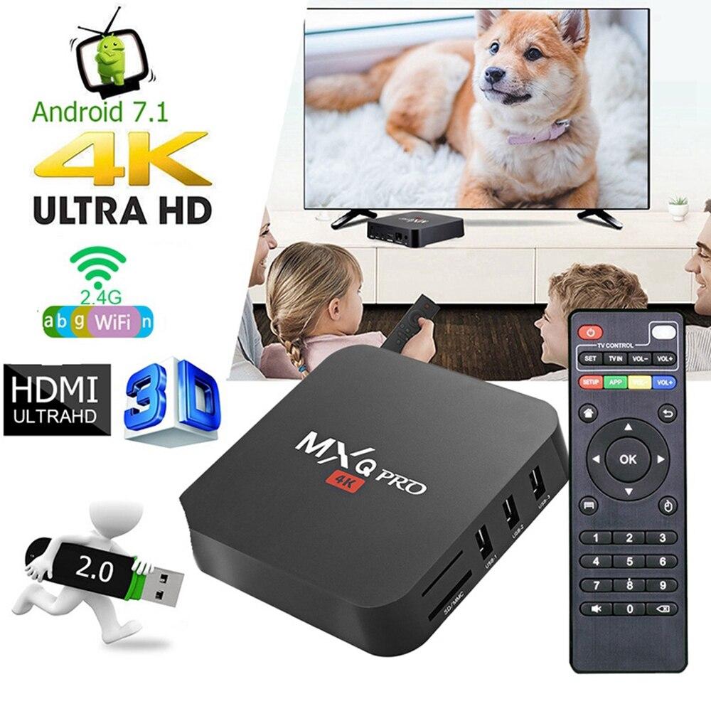 MXQ PRO 4K 5G Android TV BOX S905W Quad Core 2GB 16GB 2.4G Wifi 4K 3D Smart TV Android 7.1 Smart TV BOX MXQ PRO 4K Sep boîtier supérieur   AliExpress