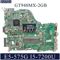 KEFU DAZAAMB16E0 Laptop motherboard for Acer Aspire E5 575G original mainboard I5 6200U/7200U GT940MX