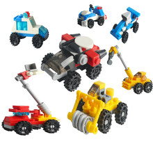 Legoing Technic City Car Police Tank Road Roller Crane Rocket Jet Sports Car Traffic light Model Toy Legoing Building Blocks Set(China)