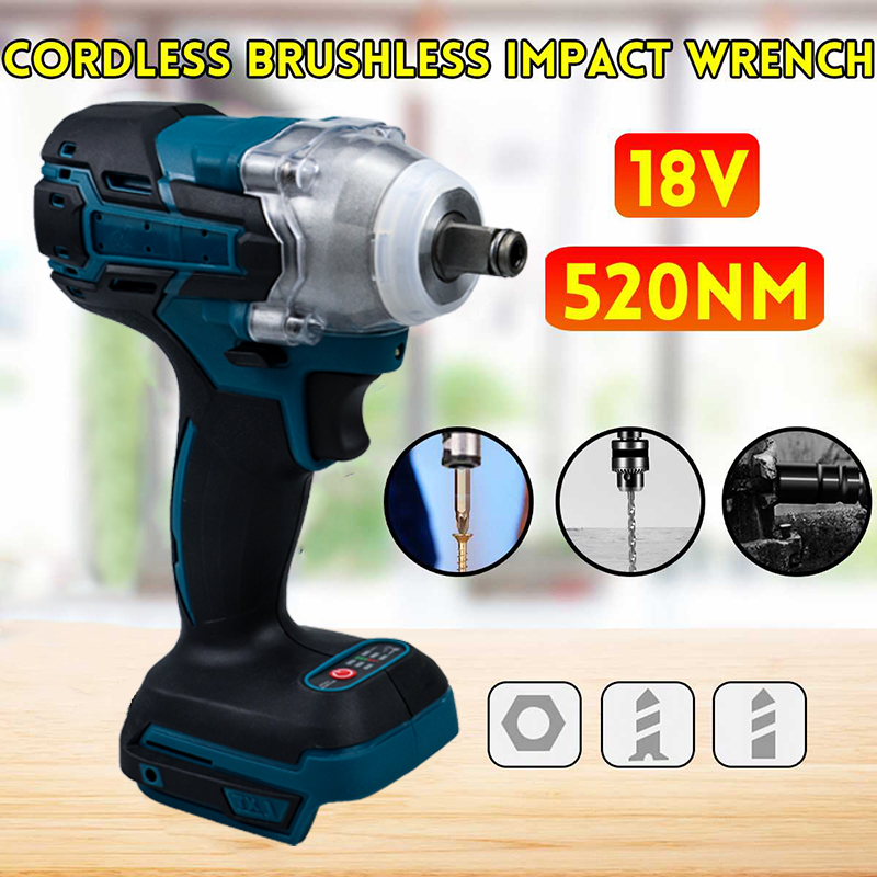 Function 2 IN 1 Brushless Electric Wrench Impact Wrench Electric Screwdriver Socket Without Battery Accessories Electric Wrench
