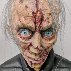 Image 2 - Halloween Horror Mask Zombie Masks Party Cosplay Bloody Disgusting Rot Face Scary Masque Masquerade Mascara Terror Masker Latex