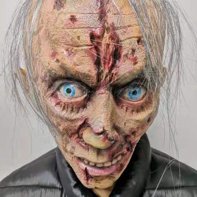 Image 2 - Halloween Horror maska Zombie maski Party Cosplay krwawe obrzydliwe Rot twarz straszny Masque Masquerade Mascara Terror Masker lateksMaski imprezoweDom i ogród -