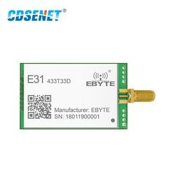 433 Mhz AX5243 Transceiver Rf Module Lange Bereik 33dBm Cdsenet E31-433T33D Uart Sma Male 2W 433 Mhz Rf Zender en Ontvanger