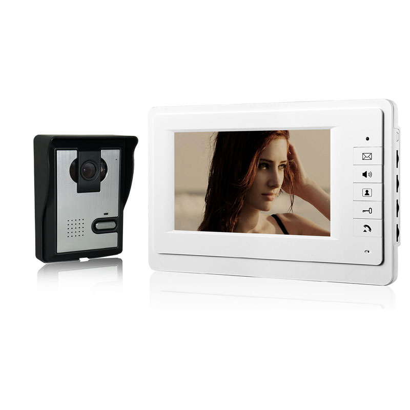 7 Inch HD Doorbell Camera Video Intercom Door Phone System With Monitor Intercom System Release Unlock For Private House