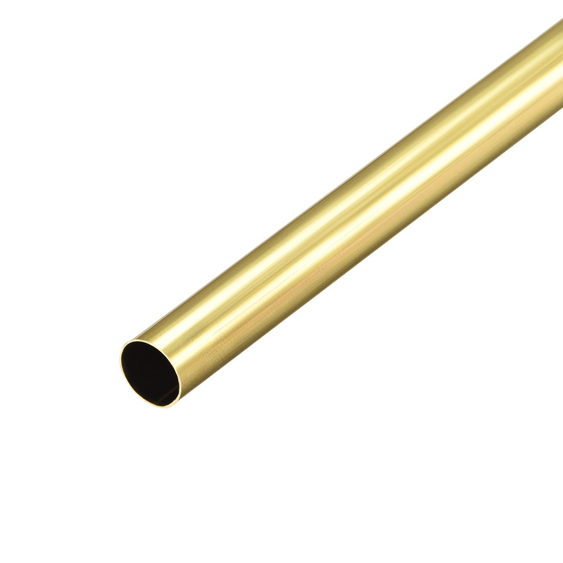Uxcell Brass Round Tube 300mm Length 8mm OD 0.2mm Wall Thickness Seamless Straight Pipe Tubing