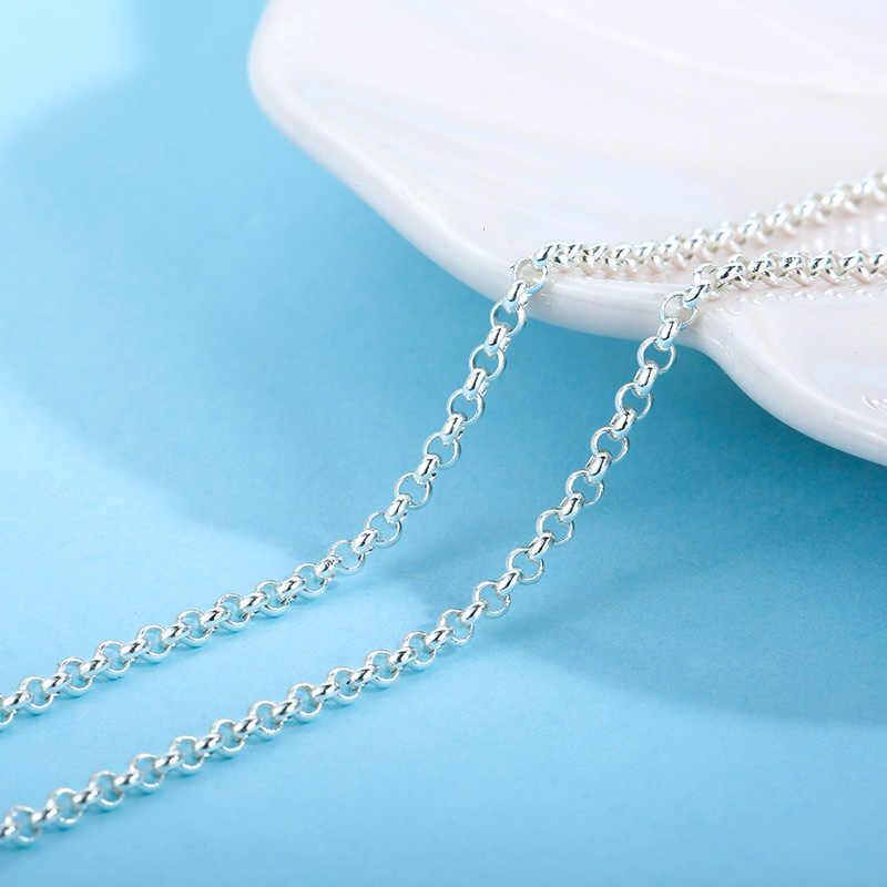 Sa silverage 28/32 Polegada 71.12cm e 81.28cm s925 prata esterlina acessório corrente 9.01g correspondente s925 prata colar