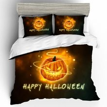 Home Textiles Bed Linen Set Halloween Quality 3D Luxury Kids Couple King Size Bedding Duvets And Sets Cotton