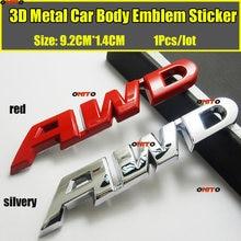 1 шт стильная хромированная металлическая наклейка awd 3d эмблема