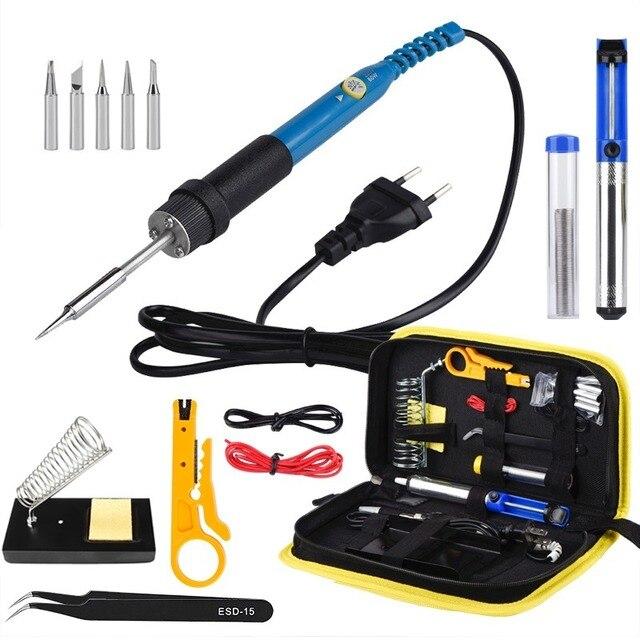 JCD 908 Electric Soldering Iron Portable Digital Soldering Iron Electric Welder Tips Tin Solder for Soldering Welding Equipment