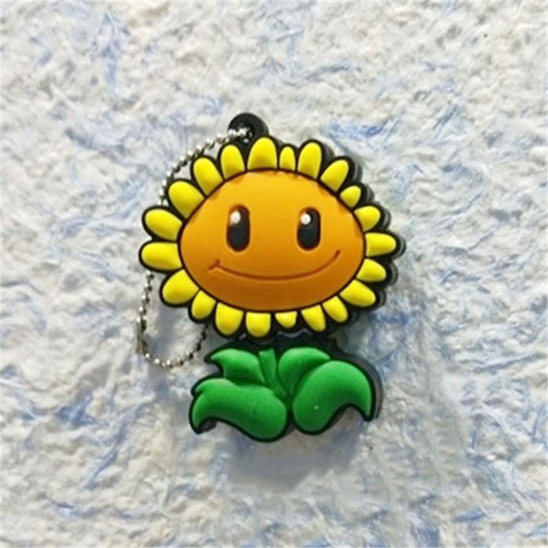 Real Capacity Pendrive Cartoon Plant Flower 4GB 8GB 16GB 32GB 64GB Sunflower USB 2.0 Flash Drive Memory Stick Cute Gifts For Kid