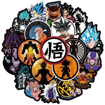 Details about  /100 Pcs Dragon Ball Z Super Saiyan Goku Stickers Decal For Laptop Phone Luggage