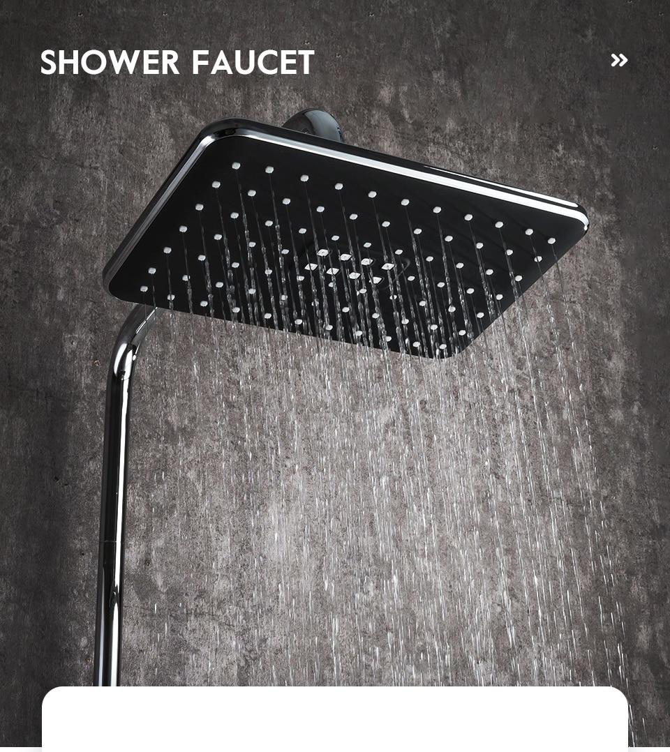 H57ad4381e48a4560913c2569bec05a9dV Frap Bathroom Faucet Black Rain Shower Head Faucet Wall Mounted Bathtub Shower Mixer Tap Shower Faucet Shower Set Mixer F2457