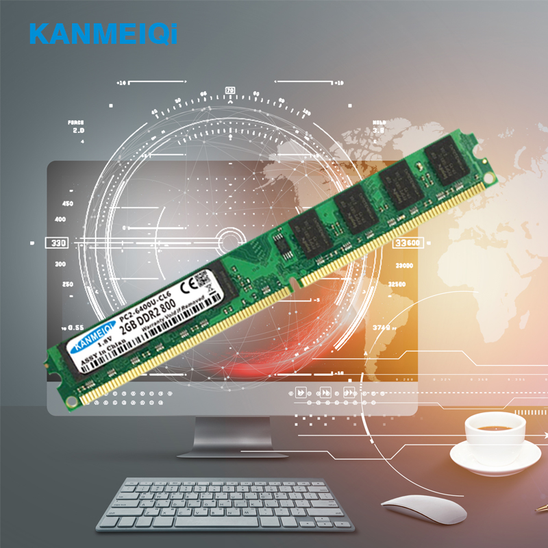 KANMEIQi DDR2 2GB RAM for Desktop with 800MHz Memory Speed 3