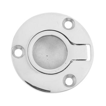 2pcs Marine Stainless Steel Round Flush Fitting Lifting Pull Handle 50mm