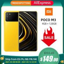 Version mondiale POCO M3 4GB 128GB Xiaomi Smartphone Snapdragon 662 6.53