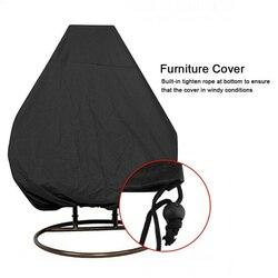 Ogrodowa krzesło obrotowe osłona przeciwpyłowa rattanowa huśtawka ogrodowa tkanina wiszące krzesło jajo UV pokrowiec na fotel wodoodporny pokrowiec na fotel w Zewnętrzne narzędzia od Sport i rozrywka na