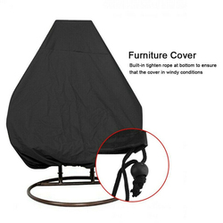 Outdoor Garden Swing Chair Dust Cover Rattan Swing Garden Fabric Hanging Egg Chair UV Seat Cover Waterproof Chair Seat Cover
