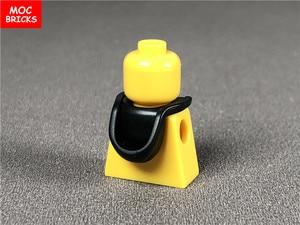Image 4 - 10 ピース/ロットmocレンガヘッドギアフードヘルメット折り畳む図アクセサリーフィットと 30381 & 15428 ビルディングブロックのおもちゃ子供ギフト