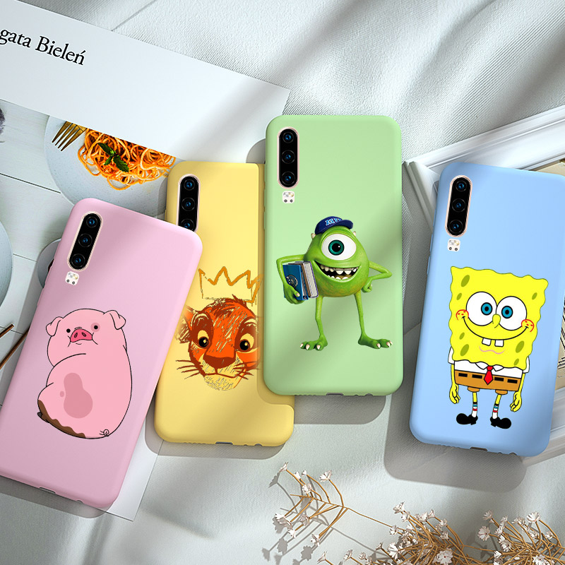 Candy Soft Silicone Case For Huawei P20 P30 P10 P40 Lite Pro E For Huawei P Smart Plus Z Y5 Y6 Prime Lite 2018 2019 Case