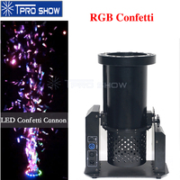 RGB Colors Shining 1200W Confetti Machine Dmx Stage Special Effect Confetti Paper Launcher Machine For Wedding Party Live Show