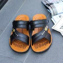 Man Sandals Men Light Shoes 2019 Summer Black Brown Fashion Leisure Breathable Hot Sale Men Slippers