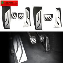 Carmilla pedal de freio e acelerador, para bmw série 1, 2, 3, 4, m3, m4, e87, e90, f20, f21, f30, f32, f36, f80, f82, pedal de descanso